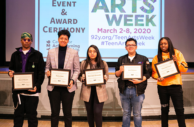 5 NYC Teens Honored During 92Y's Teen Arts Week