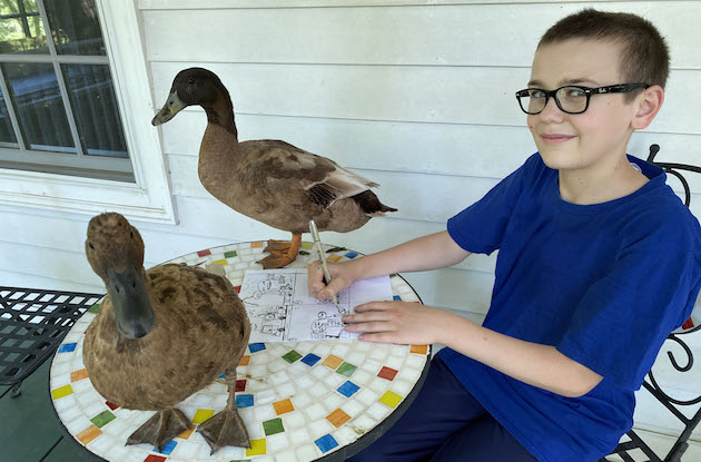 13-Year-Old Cartoonist Creates Putnam County Fair Comic