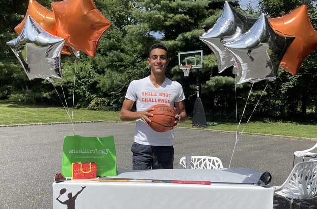 Great Neck Teen's Love of Sports Helps Kids in Need