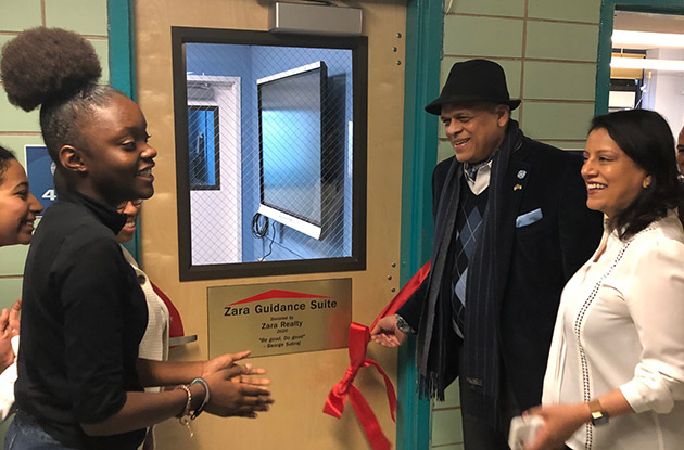 Queens High School Unveiled New Guidance Suite on Feb. 13