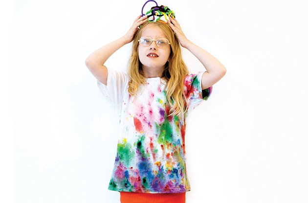 tie-dye t-shirt using frozen dye