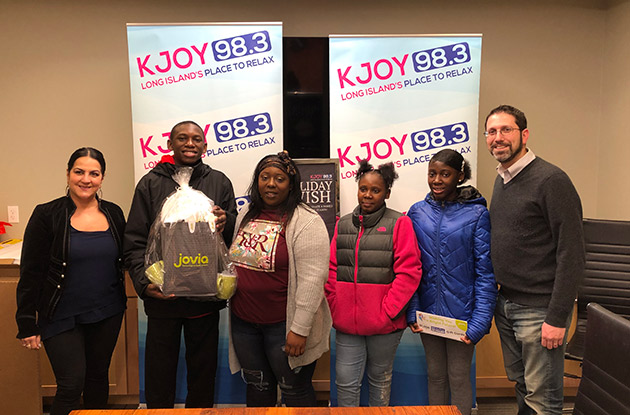 KJoy Radio Staton Grants 14-Year-Old Hempstead Boy's Holiday Wish