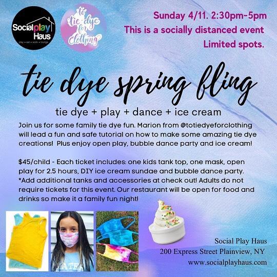 Tie-Dye Spring Fling at Social Play Haus