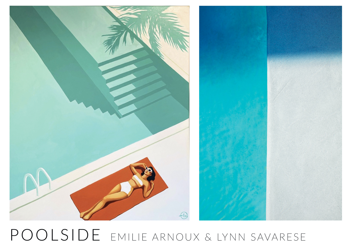 IN PERSON Poolside_ works by Emilie Arnoux & Lynn Savarese at Fremin Gallery