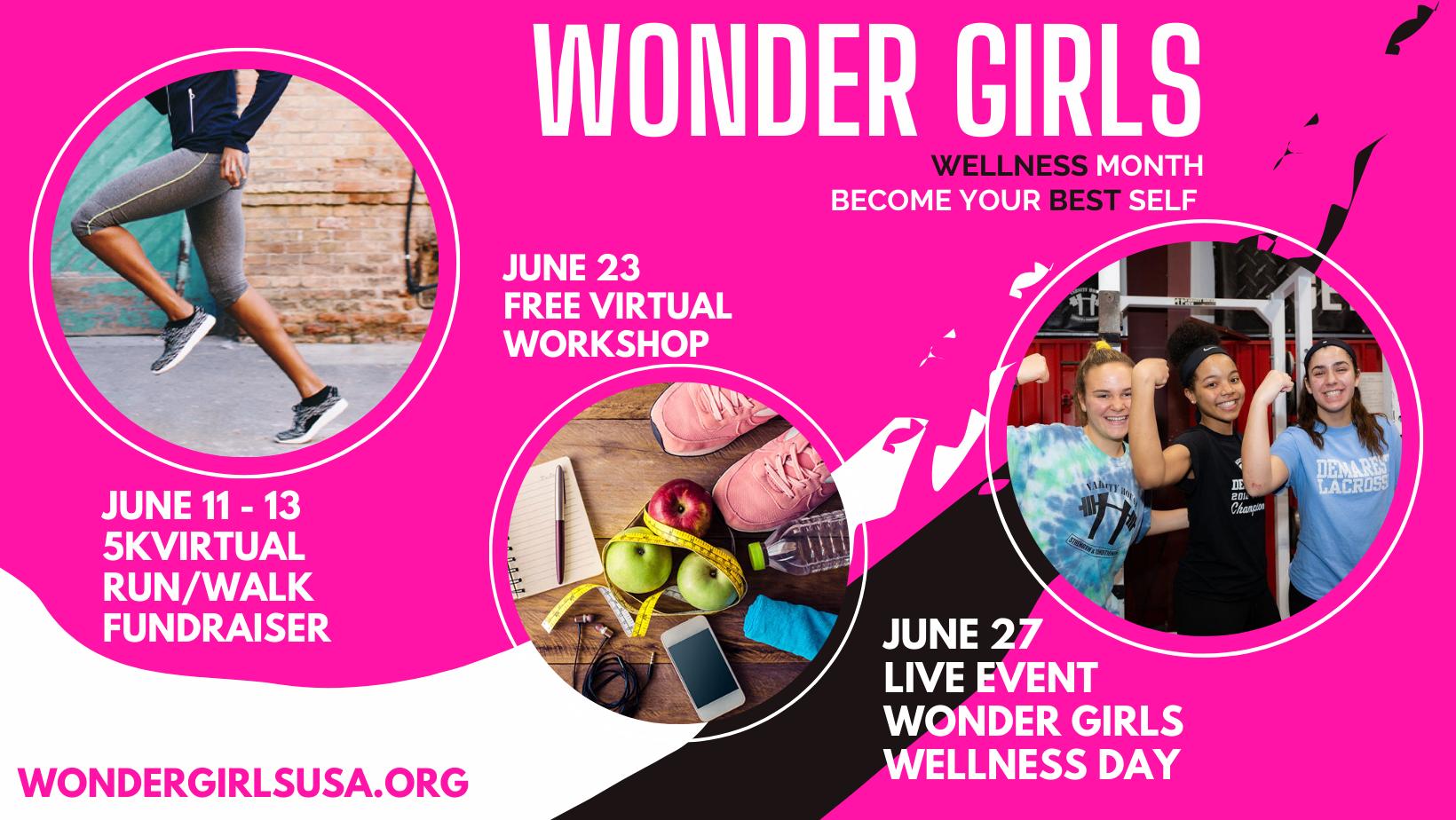 Wonder Girls Virtual 5K Run/Walk Fundraiser at Wonder Girls