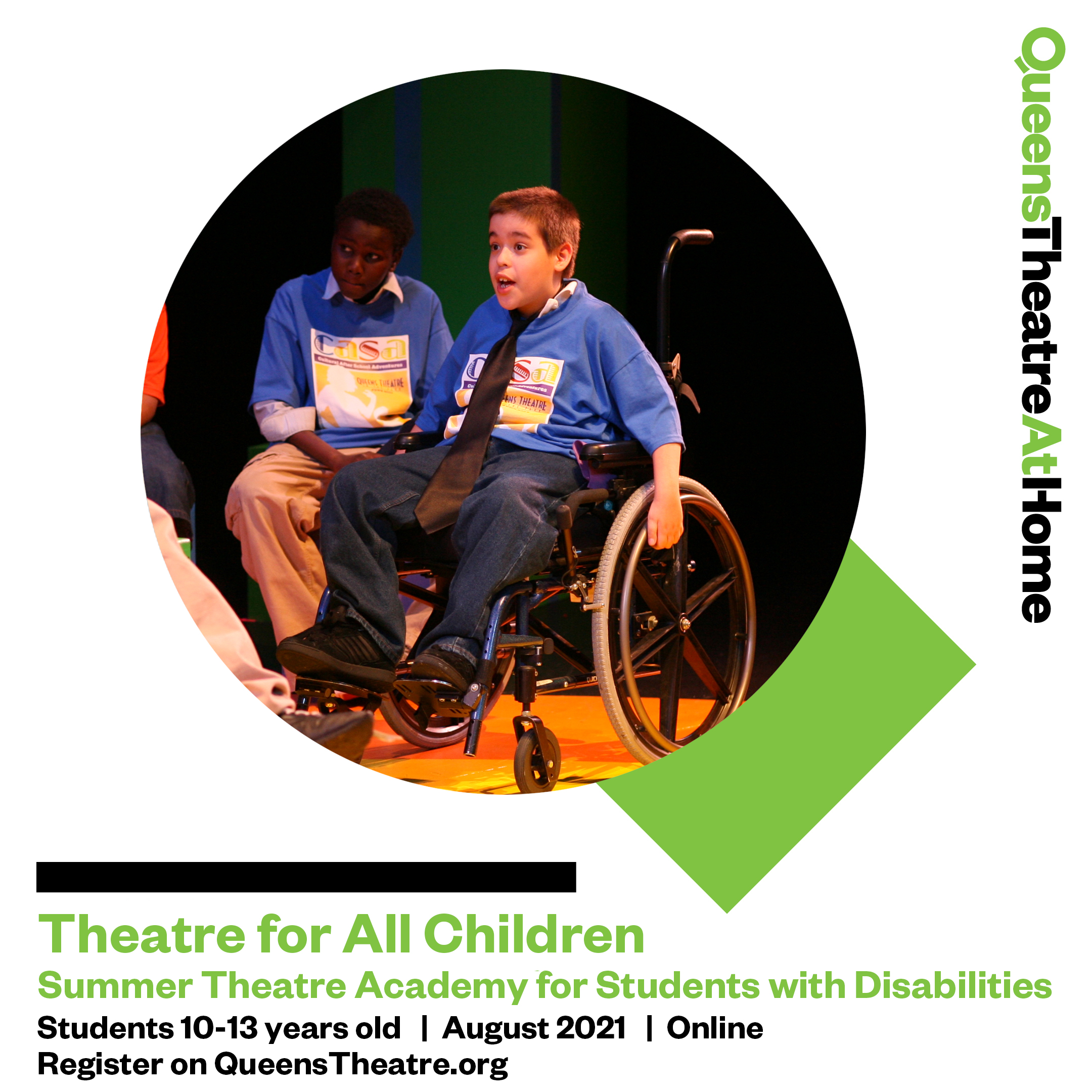 Theatre for All Children - Summer Theatre Online Academy for Students with Disabilities 2021 at Queens Theatre Online