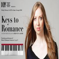 Keys to Romance: Christina Kobb, Pianist at Weill Recital Hall