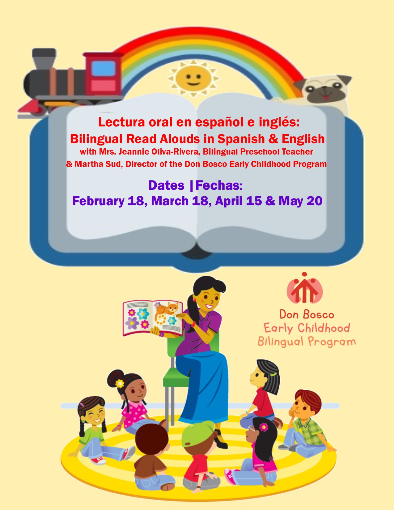 ONLINE Bilingual Read Aloud in Spanish & English in collaboration with Don Bosco Early Childhood Bilingual program at Port Chester-Rye Brook Library