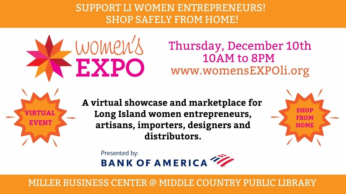 ONLINE WOMEN'S EXPO at Middle Country Public Library