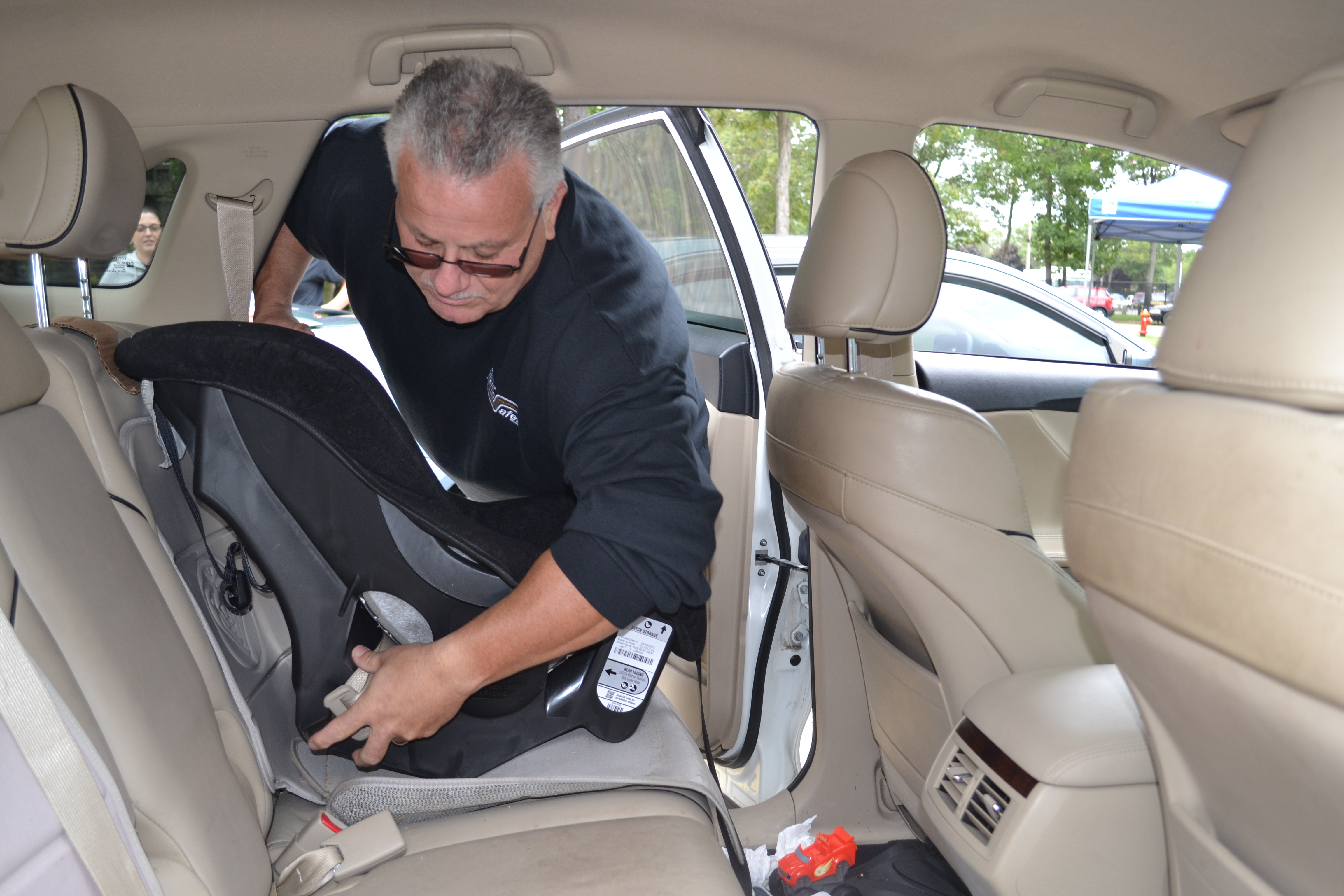 Child Safety Seat Check at Selden Fire Department