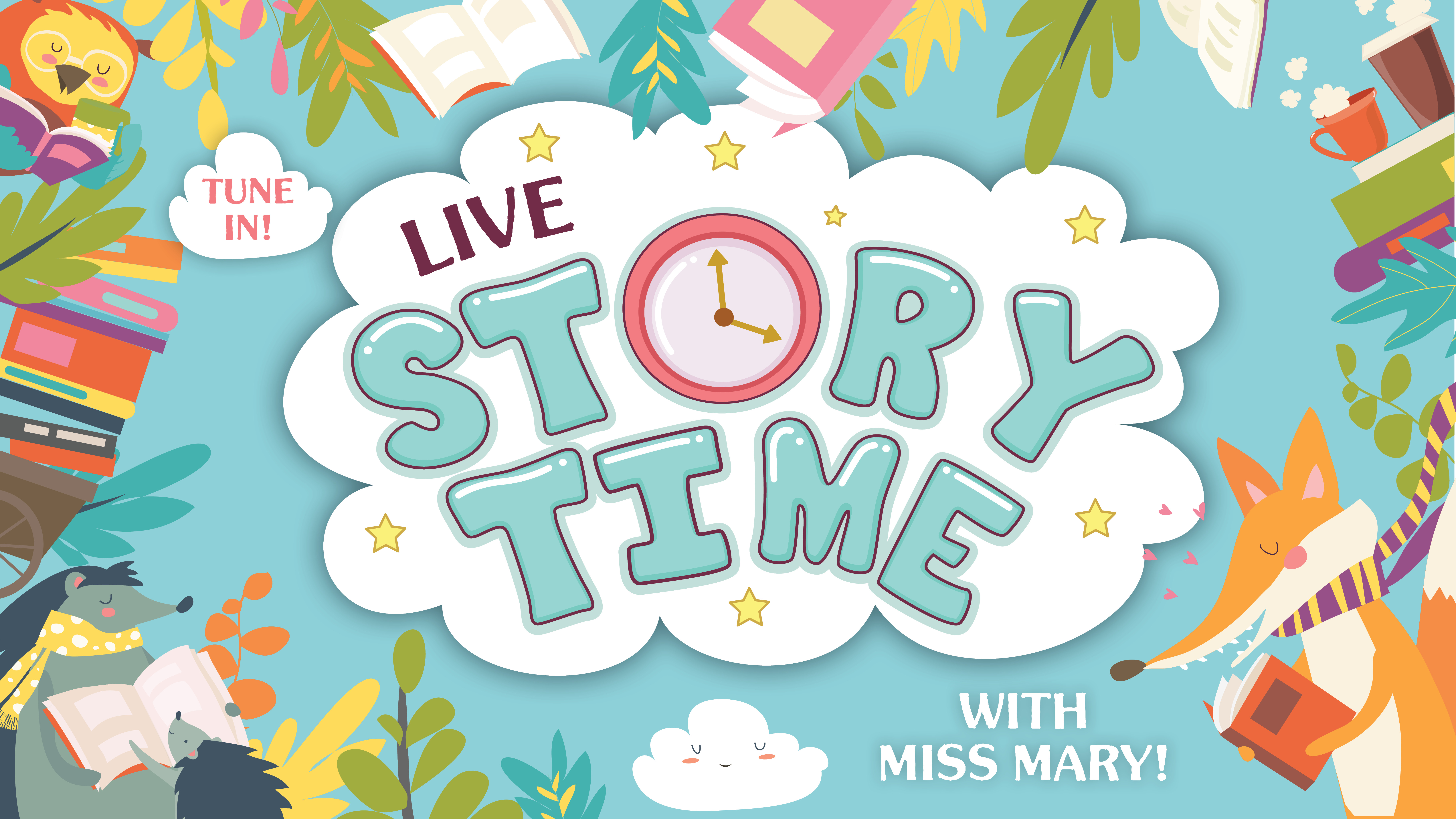 ONLINE Facebook Live Storytime With Miss Mary! at Patchogue-Medford Library