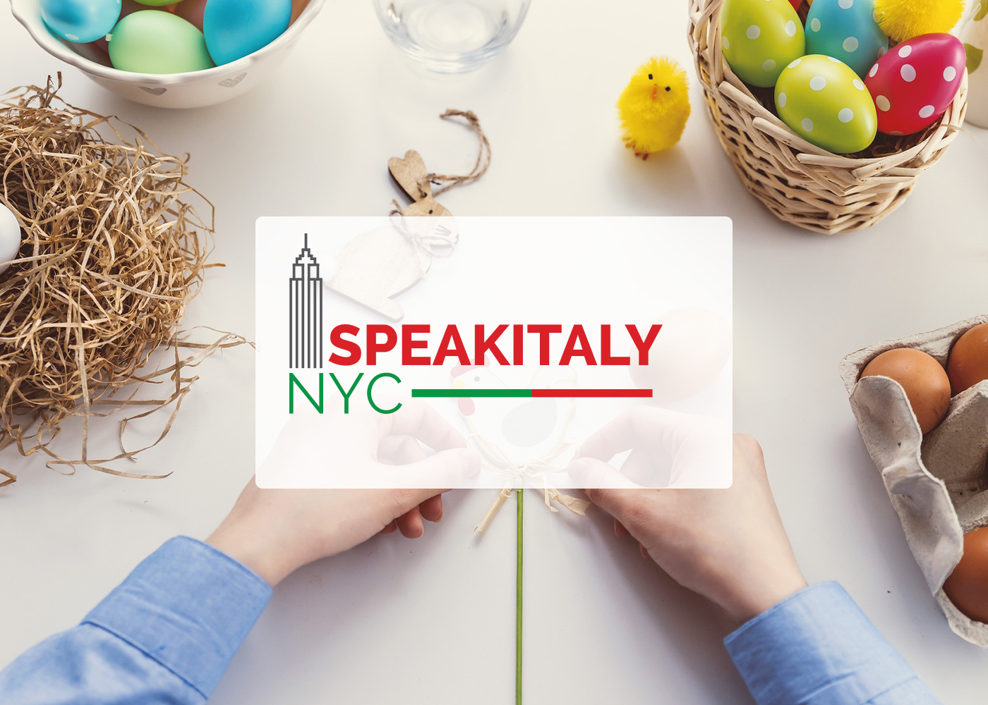 ONLINE Easter Eggs and Decoration Workshop at Speakitaly NYC