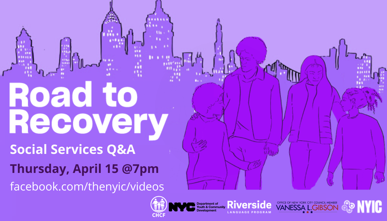 ONLINE Road to Recovery: Social Services Q&A at NYIC