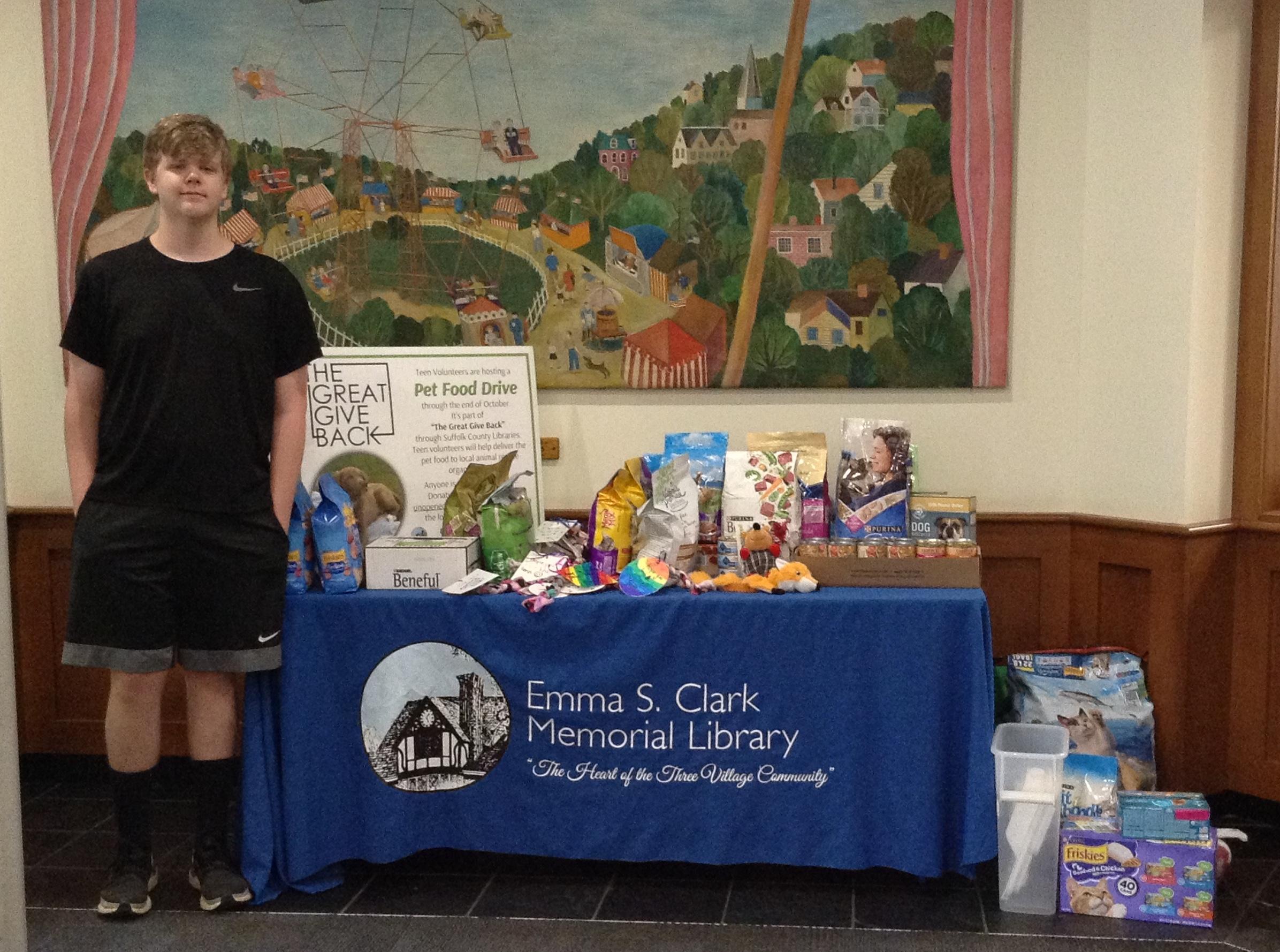 Pet Food Drive at Emma Clark Library