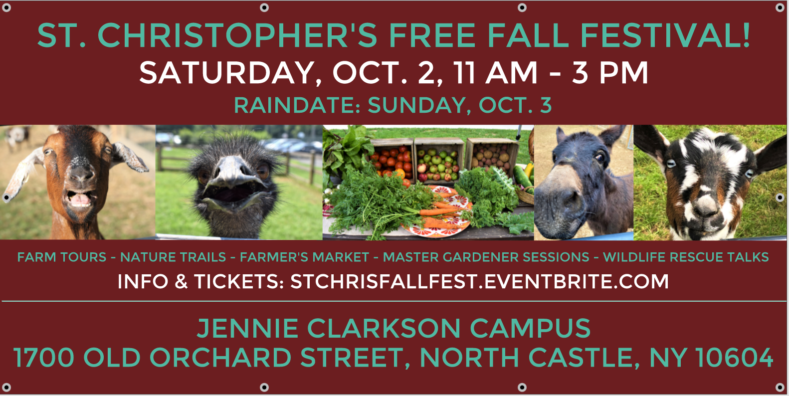 St. Christopher's FREE Fall Festival at St. Christopher's Jennie Clarkson Campus