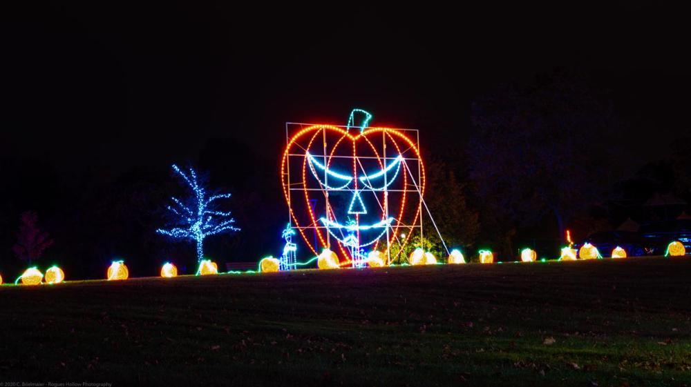 Halloween Light Show at Demarest Farms