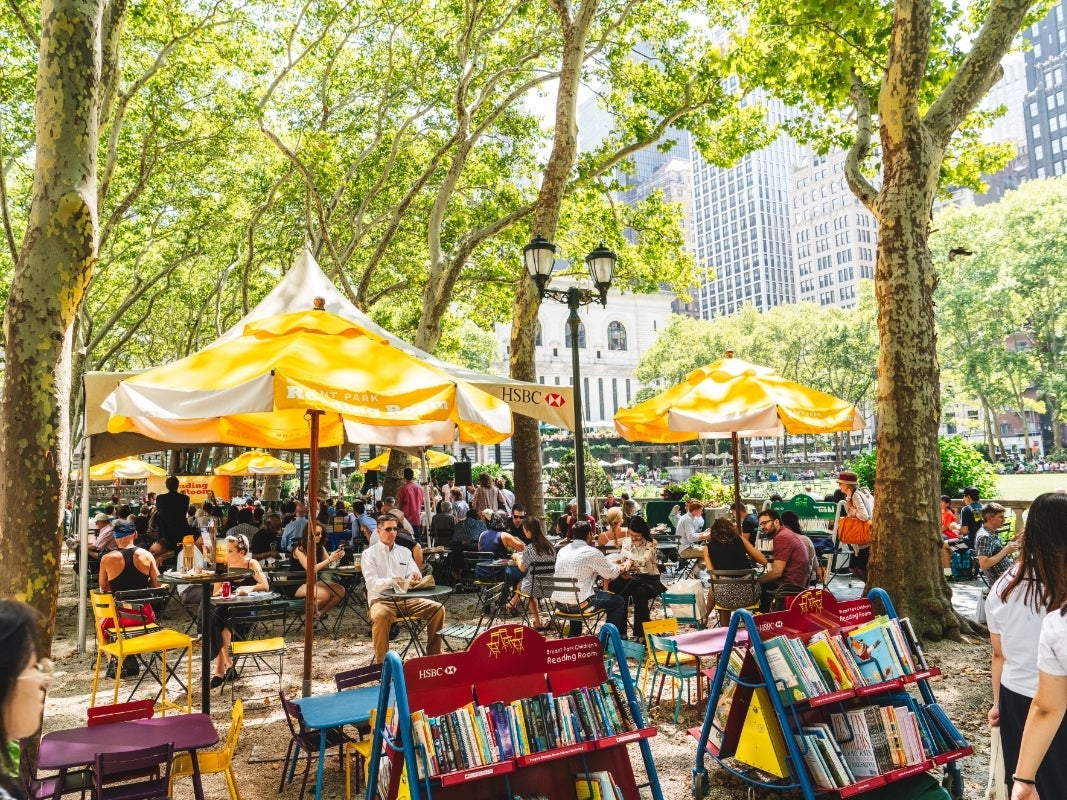 OUTDOOR 'READING ROOMS' at Bryant Park