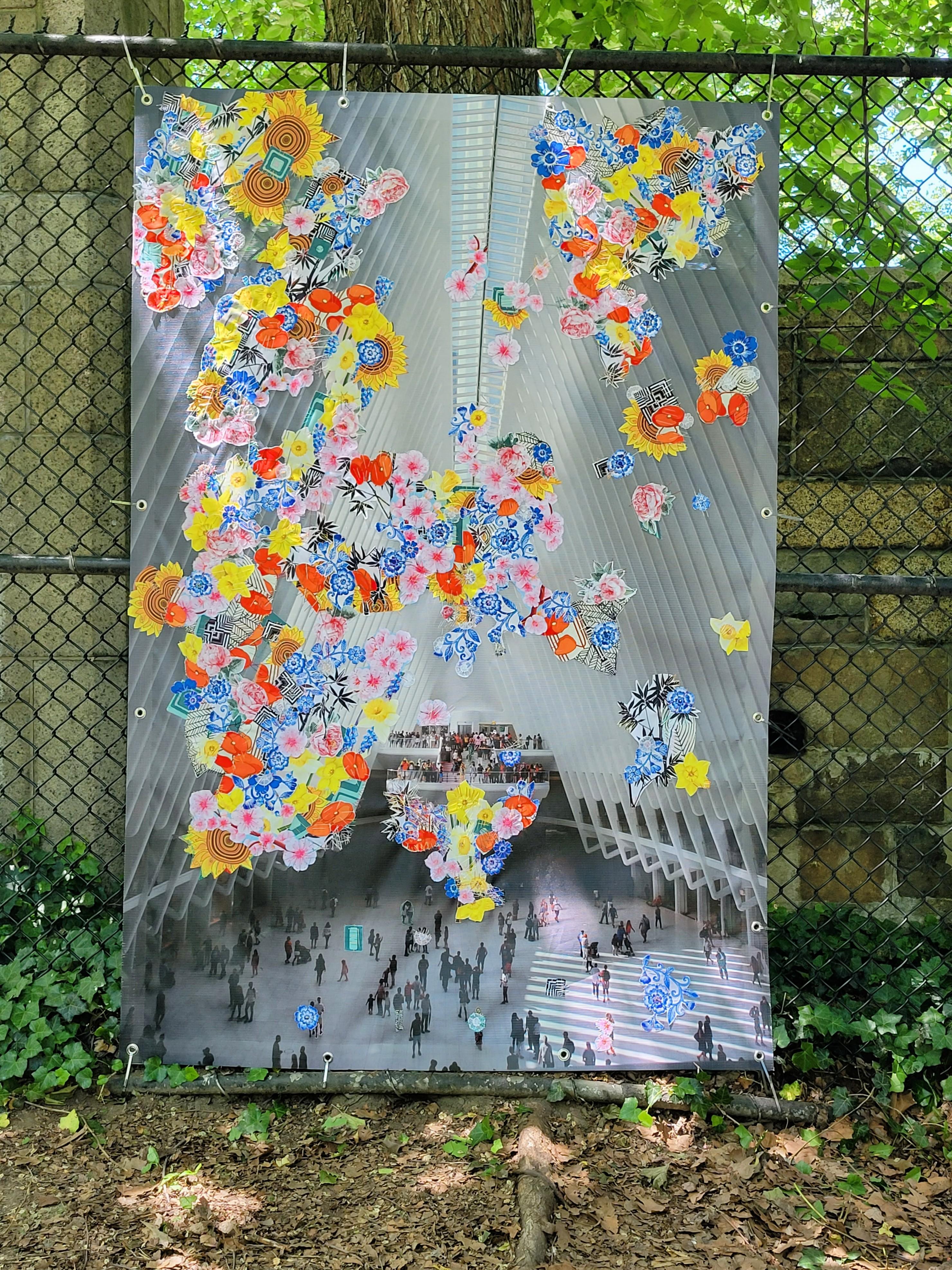 Re:Growth Public Art Piece - Ocufluent I & II by WOOLPUNK at Riverside Park