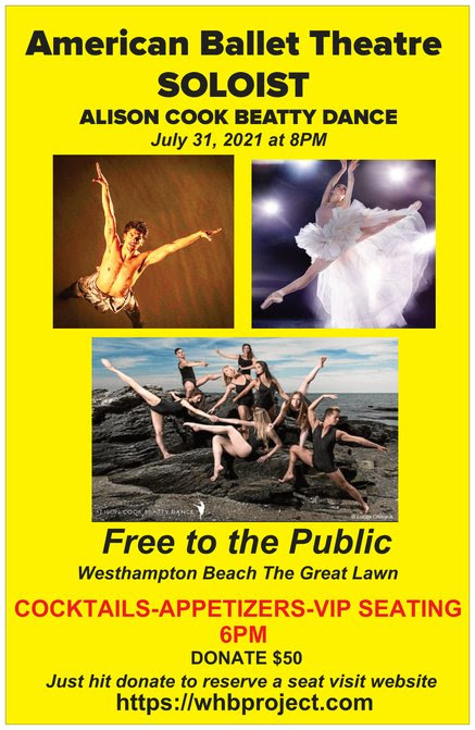 Westhampton Beach Project: A COmplimentary Night of Music and Ballet at The Great Lawn
