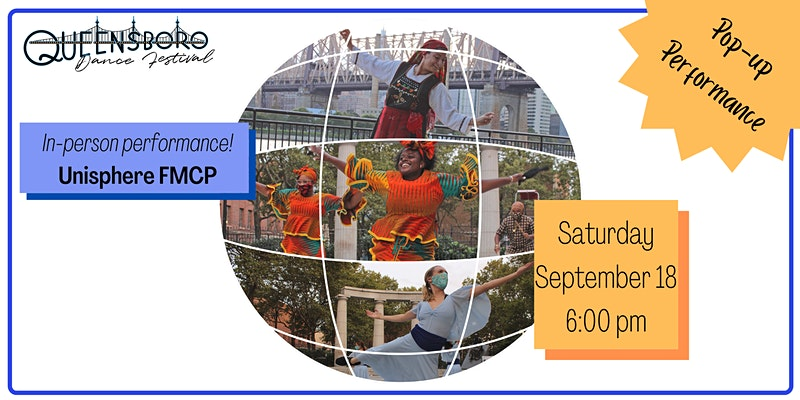 Queensboro Dance Festival Pop Up Event at Unisphere in Flushing Meadows Corona Park