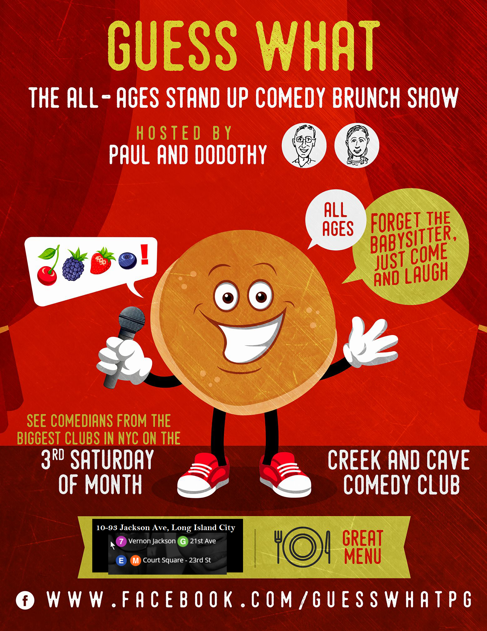 Guess What Family Friendly Comedy Show at Creek and Cave Comedy Club