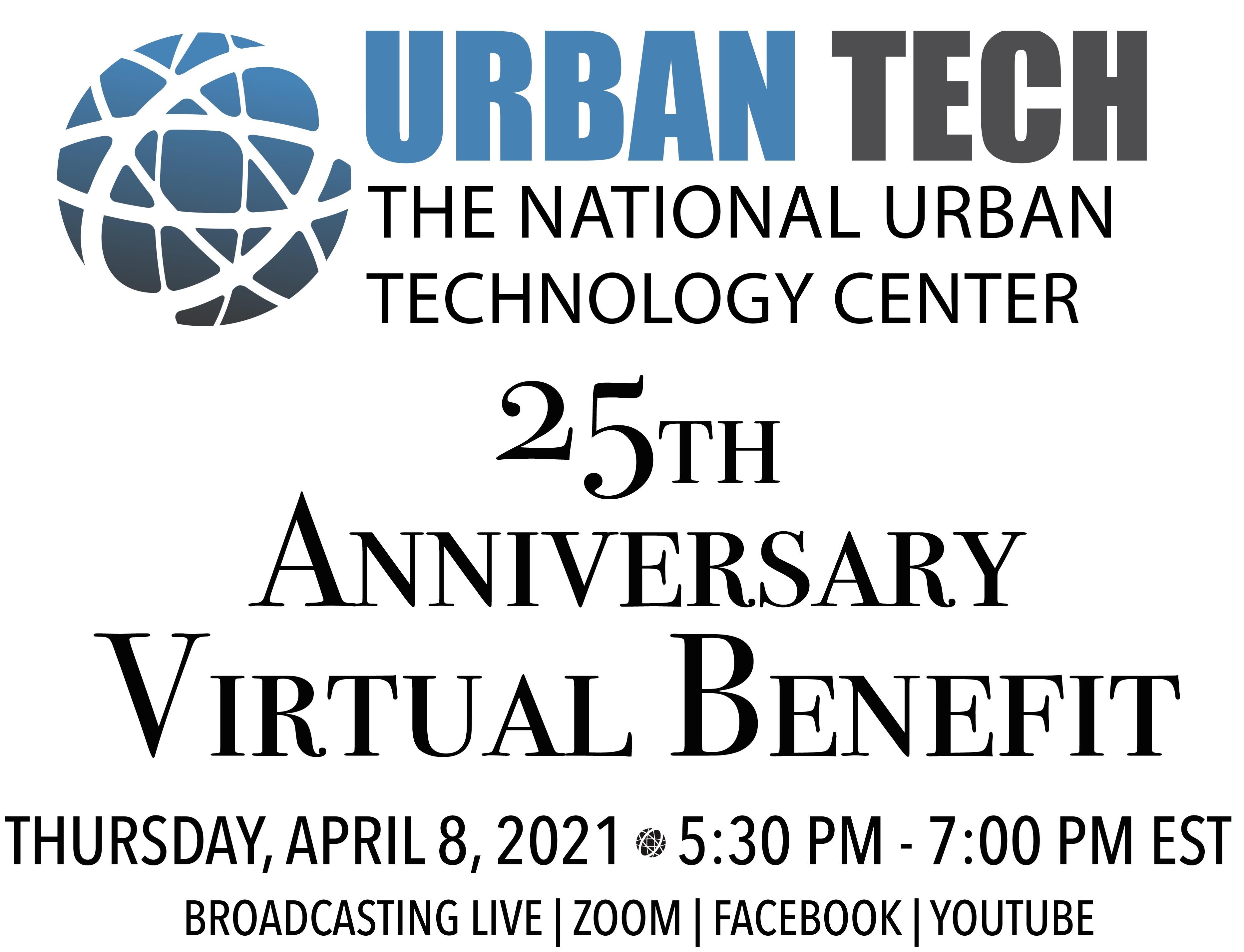 ONLINE Urban Tech's 25th Anniversary Virtual Benefit at Urban Tech