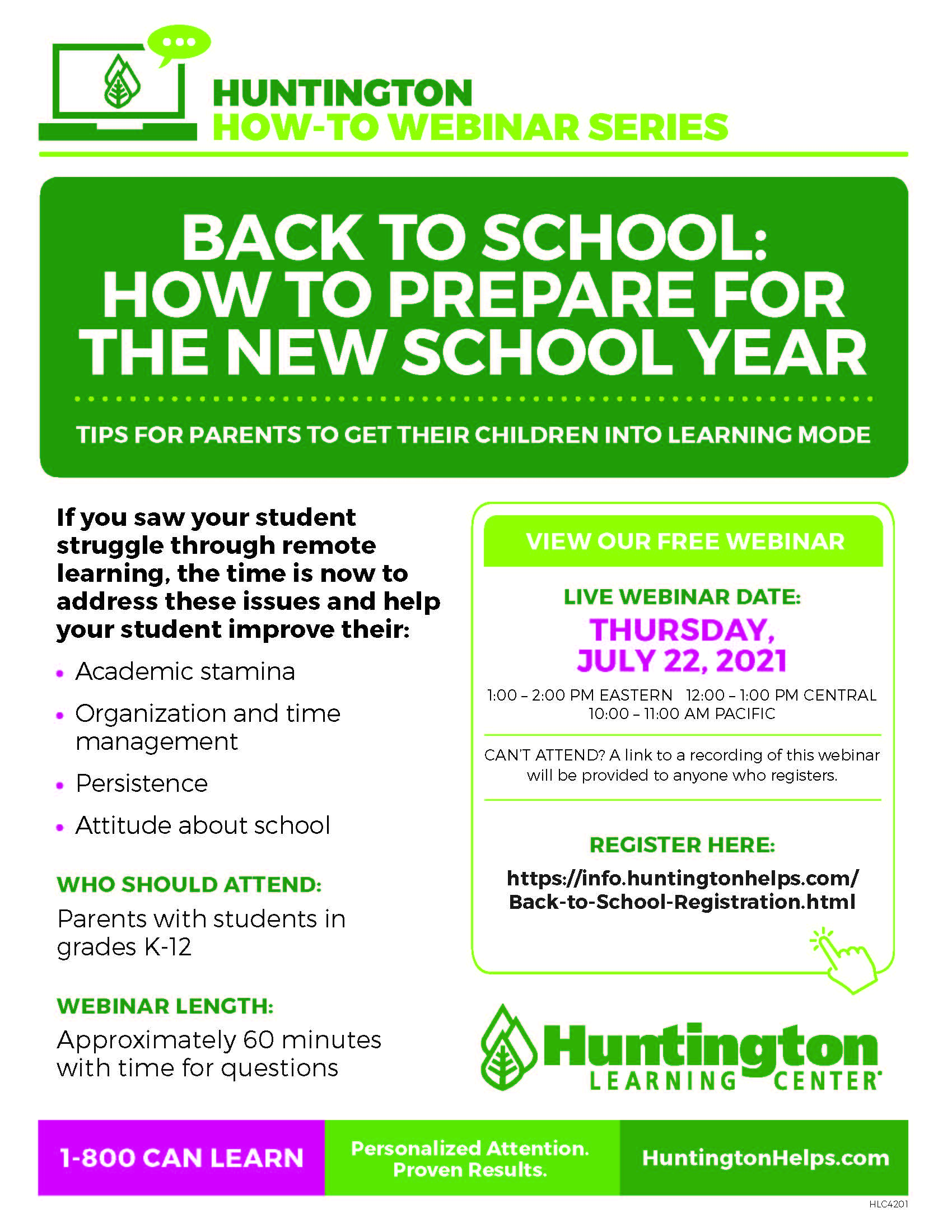 Back to School: How to Prepare for the New School Year at Huntington Learning Center