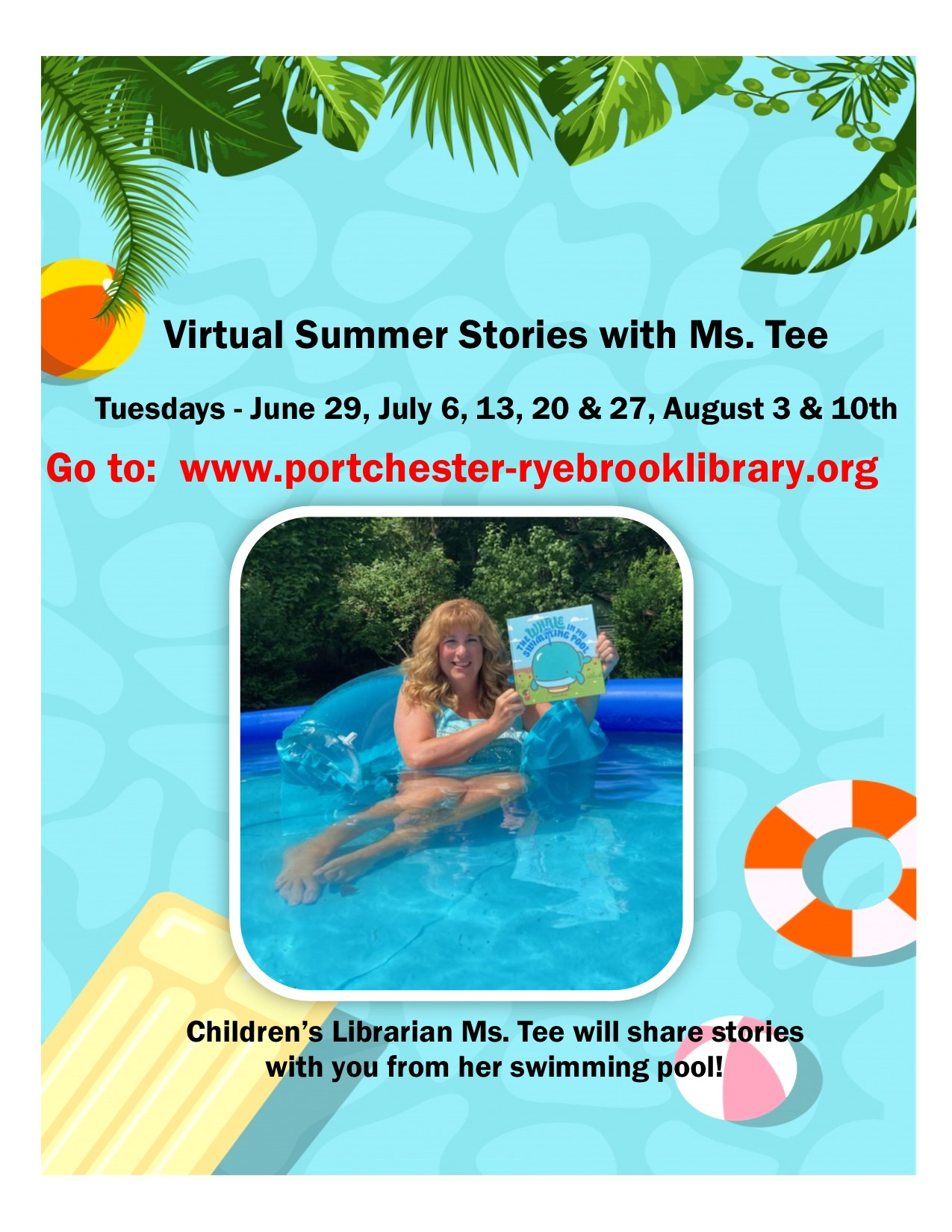 Virtual Summer Stories with Ms. Tee at Port Chester-Rye Brook Public Library