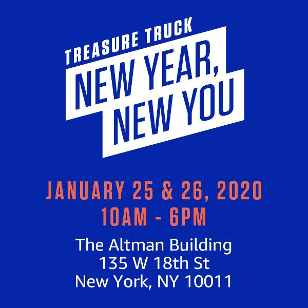 Amazon Treasure Truck: 'New Year, New You' at The Altman Building