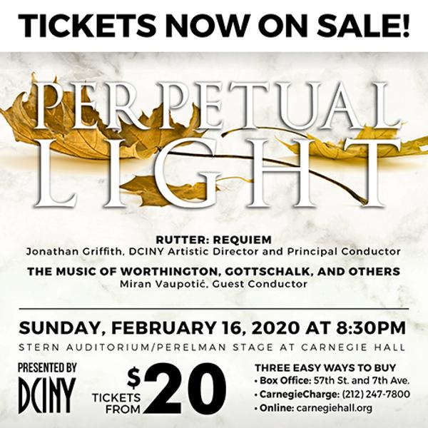 Perpetual Light at Stern Auditorium/Perelman Stage, Carnegie Hall