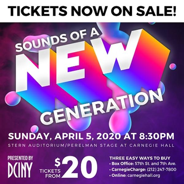 SOUNDS OF A NEW GENERATION at Stern Auditorium/Perelman Stage, Carnegie Hall