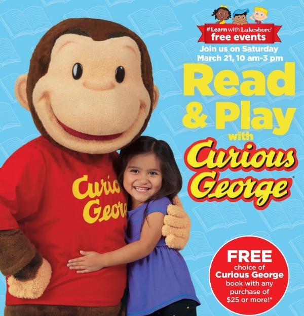 Lakeshore's Read & Play with Curious George at Lakeshore Learning