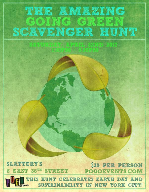 The Amazing Going Green Scavenger Hunt at Slattery's Midtown Pub