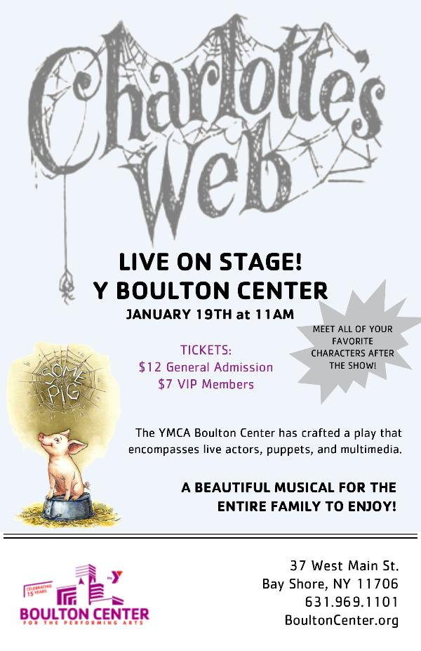 Charlotte's Web LIVE! at YMCA Boulton Center