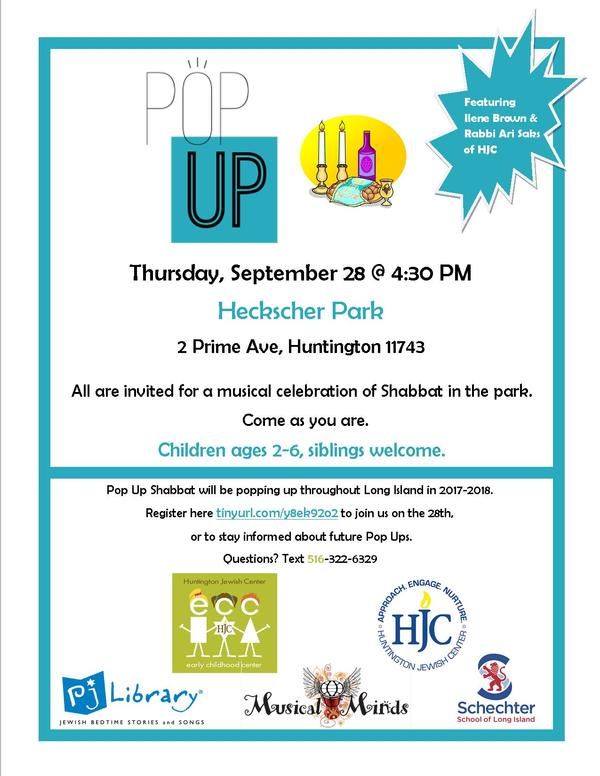 Pop Up Shabbat at Heckscher Park