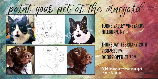 Paint Your Pet at the Vineyard at Torne Valley Vineyards