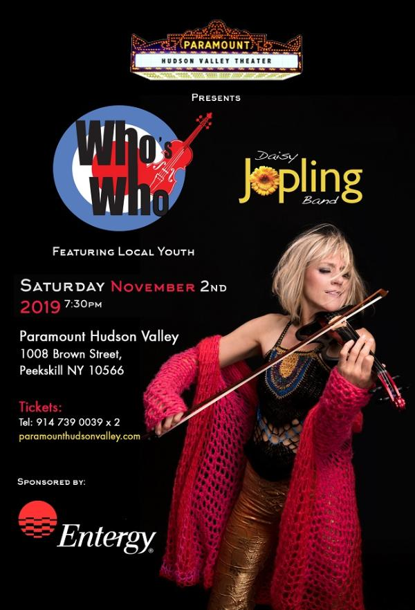 """""""Who's Who"""" a show by The Daisy Jopling Band at Paramount Hudson Valley Theater"""