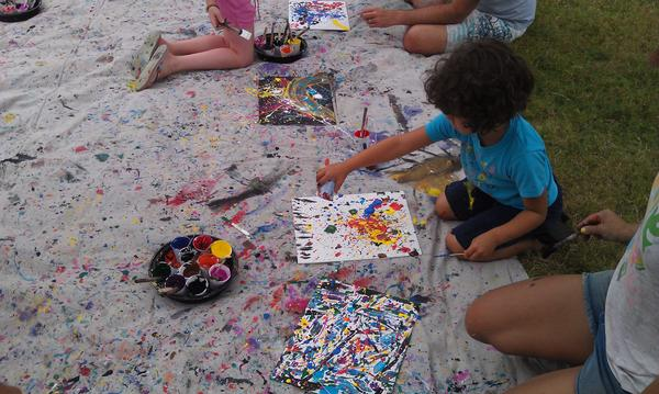 Jackson Pollock Family Drip Painting Workshop at Pollock-Krasner House and Study Center