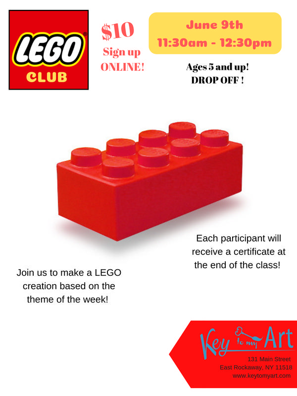 Lego Club! at Key to My Art East Rockaway