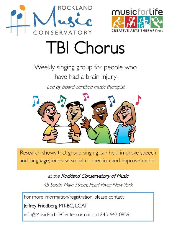 TBI Chorus - for adults who have had a brain injury at Rockland Conservatory of Music