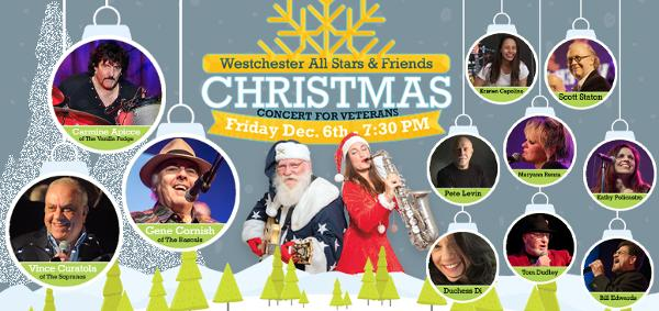 8th Annual Westchester All-Stars and Friends Christmas for Veterans Concert at Paramount Hudson Valley Theater