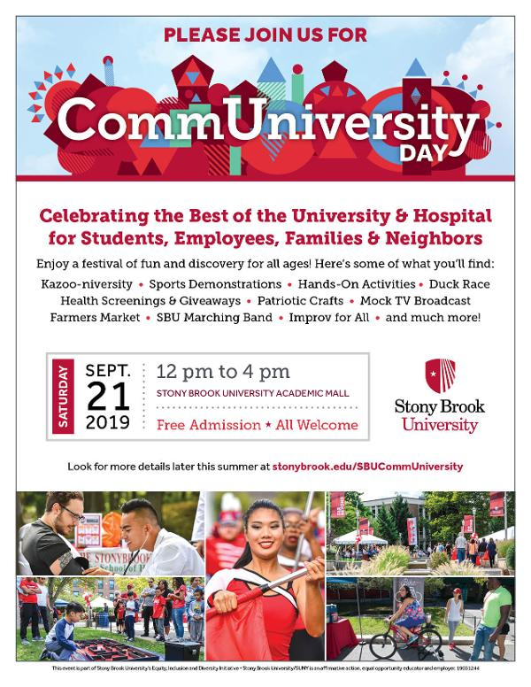 CommUniversity Day at Stony Brook University