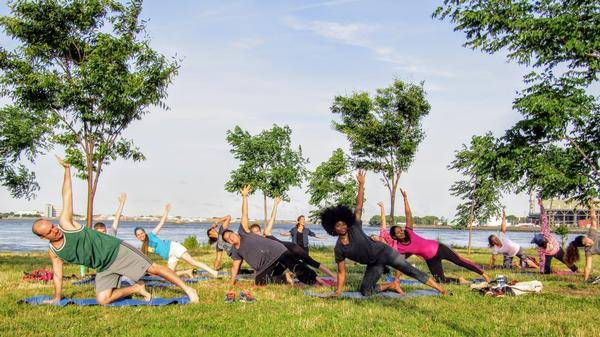 Yoga in the Park at Randall's Island Park