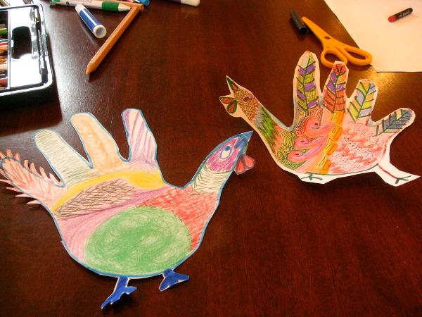 Crafting Skyscraper Hand Turkeys at The Skyscraper Museum