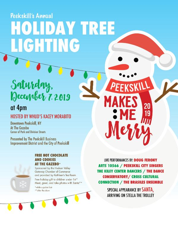 Peekskill Makes Me Merry: Annual Holiday Tree Lighting at Downtown Peekskill at the Gazebo