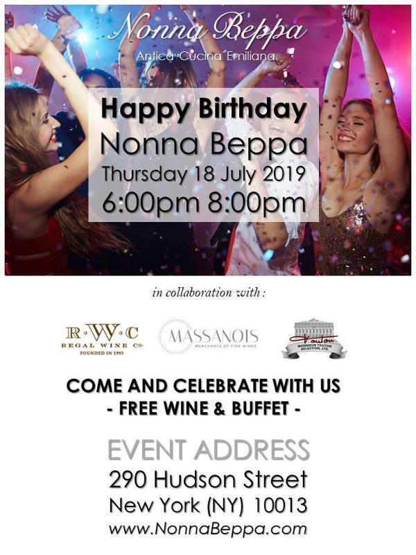 FREE Food & Wine: Soho's Nonna Beppa Celebrates 1st Anniversary at Nonna Beppa