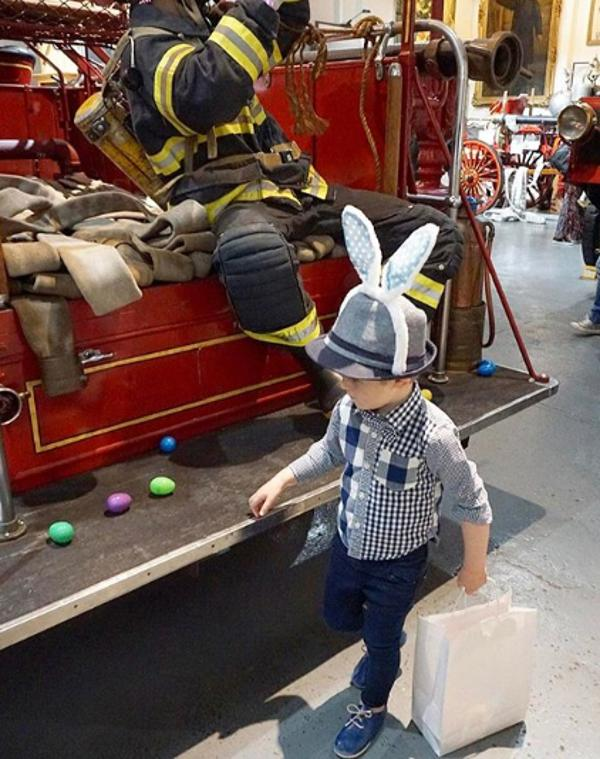 Annual Egg Hunt at New York City Fire Museum