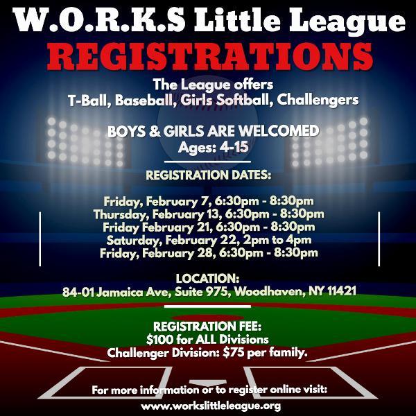 W.O.R.K.S. Little League 2020 Spring Season at Club House