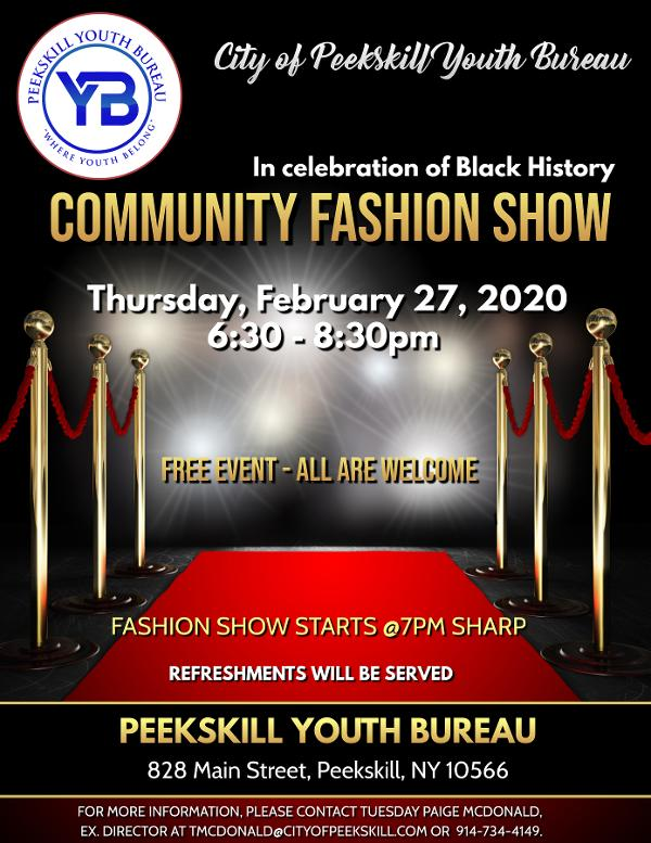 Peekskill Black History Month Fashion Show at Peekskill Youth Bureau