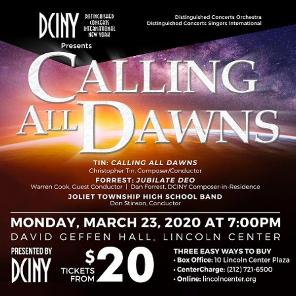 Calling All Dawns at David Geffen Hall, Lincoln Center